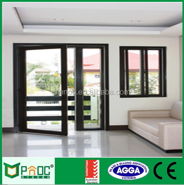Aluminium casement doo and window without sill