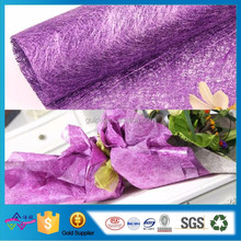 High Grade 100% Polyester Fabric Nonwoven Flower Wrap For Holiday Decoration