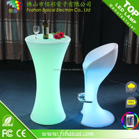 Professional manufacturer rgb led light bulb plastic bar table chairs for bistro