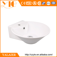 2016 Foshan Newest super slim thin edge art ceramic basin lavatory bowl Italy styel sink bathroom vanity