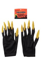 2017 new arrival halloween party Gold nails gloves For hot Sale