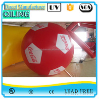Cheap and high quality giant commercial outdoor football airship inflatable helium ground sky balloon advertising price