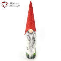 Factory direct sell oem decoration fabric bottle christmas gnomes with long beard