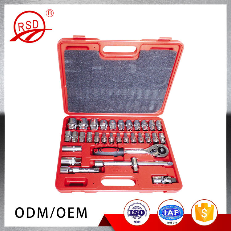 Alibaba China supplier in stock best RSD10932 CR-Vsteel 32 pcs hand tool car repair sockets sets