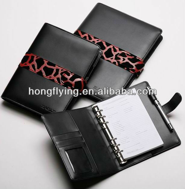 2013 hot selling black pu leather organizer
