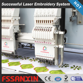 Computerized laser cutting embroidery machine lower price hot sell in india