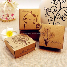 Wholesale Cheap hot sale Logo Printed Disposable custom brown kraft paper box