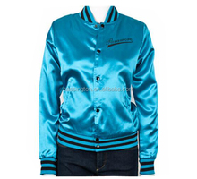 mens light padded satin varsity jacket