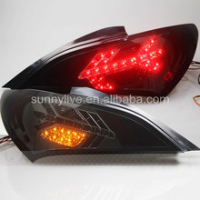 For Hyundai Genesis Coupe 2009-2011 LED Tail Lamp With LED Turning light All Smoke Black SN