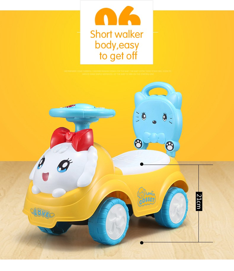 Hot selling electric car led light motor controller for kids cute cat ride forward and reverse