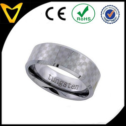 Jewelry Man Tungsten Carbide Wedding Band Rings Wholesale, Tungsten Ring 8MM Flat Wedding Band Etched Checker Board Pattern