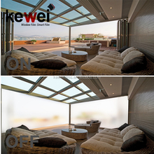 85-88% clear Switchable smart glass, kewei high clear smart glass