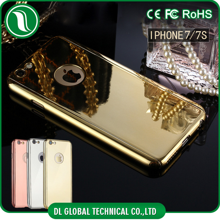 New coming mobile accessories for iPhone 7 full covered electroplating 360 case