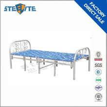 Metal portable single folding bed for refugees