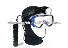 new diving headlamp with widely rotated light head, hands-free hunting headlight,10 watt led diving flashlight WH31