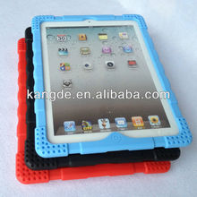 silicone shock resistant tablet heavy duty case for ipad 4 silicone protective case impact drop resistant kid proof