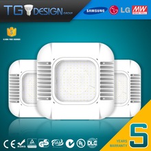 North America Market DLC UL cUL square led canopy light 150w ceiling mounted gas station canopy led fixture