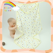 Soft touch custom printed cotton terry baby blanket