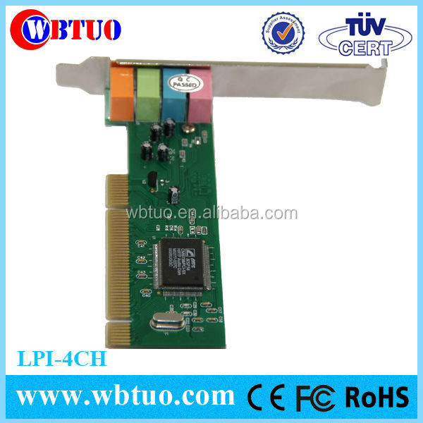Shenzhen factory cheapest price 4 channel CMI8738 PCI Sound Card