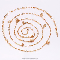41995 -wholesale fashion jewelry street style gold chain braided women's necklace