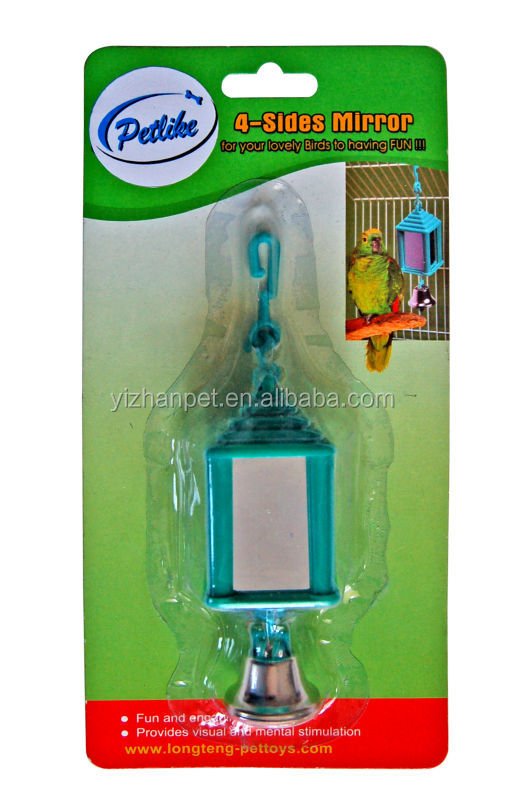 2015 New bird cage toy with bell hanging flying bird toy