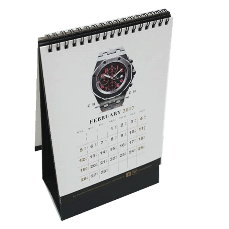 Wholesale Custom Printing 2019 Spiral Bound Wall Desk Table Calendar