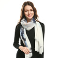 Women fashion big floral scarf