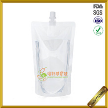 #9527 Plastic Liquid Stand Up Pouch With Straw For Fruit Juice/energy Drink Packaging