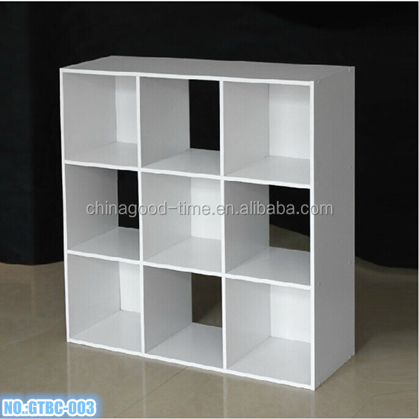 Wooden diy 9 cube kids bookshelf