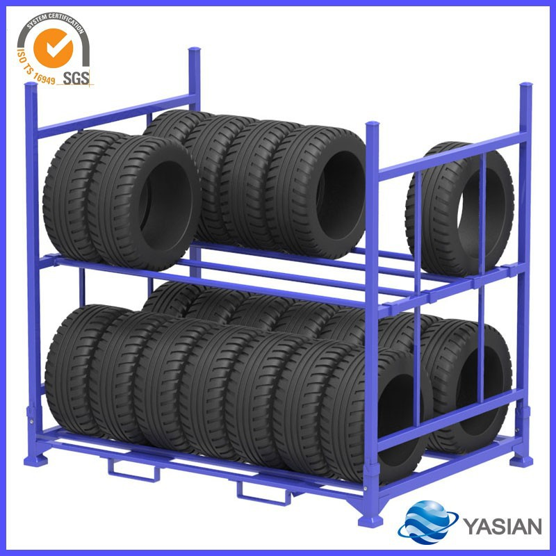 Tire rack storage system,5 year service life,well-sold steel tire stacking racks for industry