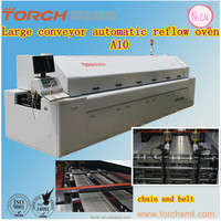 10 Zones Large-size nitrogen lead-free Reflow Oven with 10 heating zong from Beijing Torch