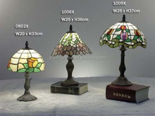 Home decorative mushroom shape glass mosaic table lamp/ mosaic lamp 3mm stained glass handmade