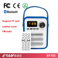2017 factory cheap price music mini leather retro speaker bluetooth
