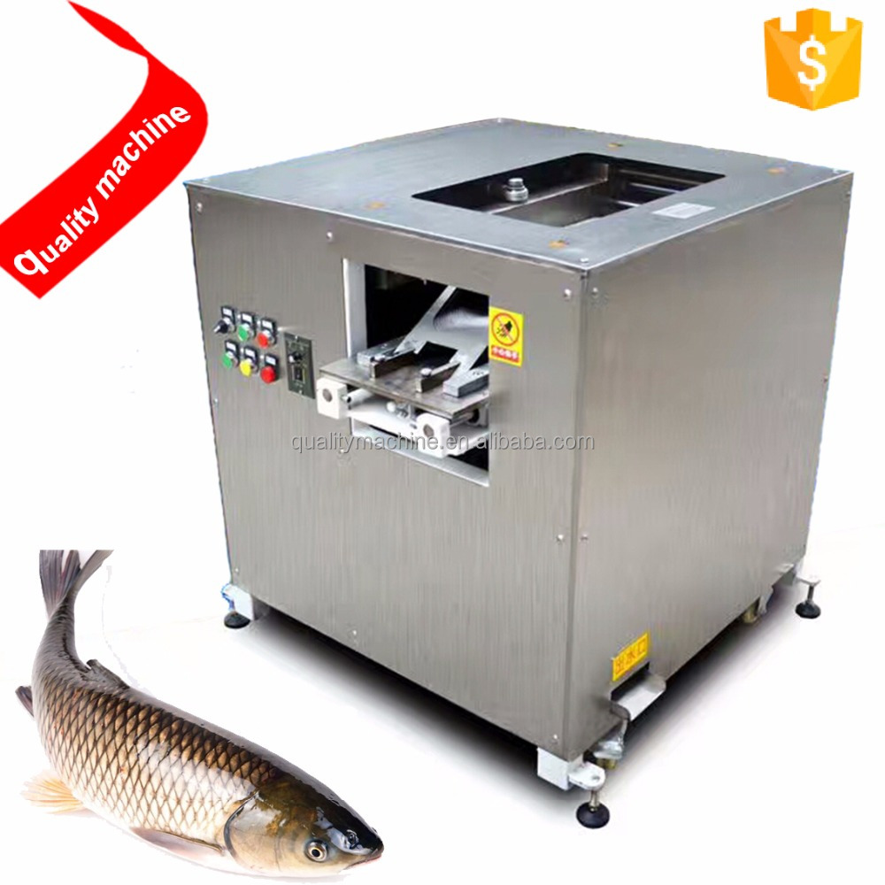 Commercial Small And Large Fish Fillet Cutting Machine / Fish Processing Equipment