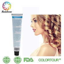 free dye samples Colortour permanent color yellow hair coloring cream