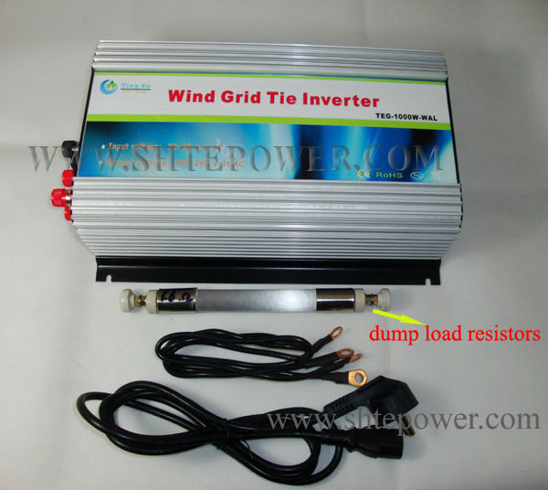 Wind Generator Grid Tie Inverter 600W AC 10.8V-30V To AC 110V 120V 220V 230V 240V With LCD and Dump Load