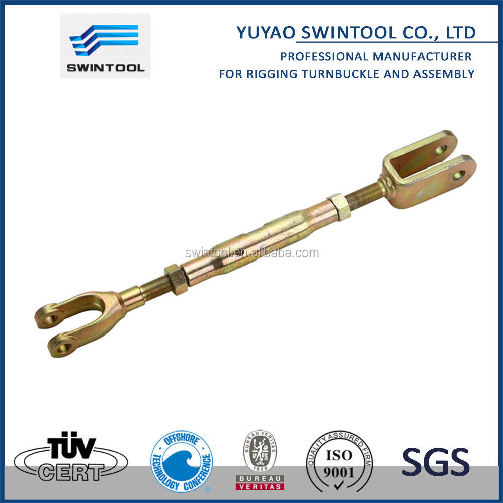 DIN 1478 turnbuckle with thread rod stud/jaw/hook/eye M27