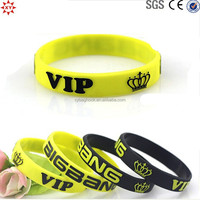 custom printing logo silicone wrist bands for promotional