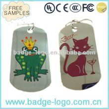 stainless iron,steel promotional metal hang tags for jeans