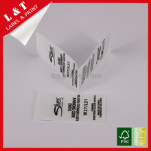 Custom Hot Sales The Cheapest High Quality end fold personal damask taffeta custom clothing tyvek printing