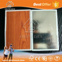 Melamine paper faced gypsum ceiling board with aluminum foil