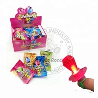Diamond Ring Shaped Lightning Strawberry Flavour Candy