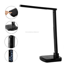 Multifunctional led table desk lamp kids study lamp led reading light with LCD display alarm clock