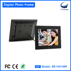 CTsignage fantastic universal digital photo frame remote control support music/video digital photo frame wall clock