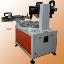 4 stations converyor serigraphy machine, electrice screen printing equipment for mobile case rulers