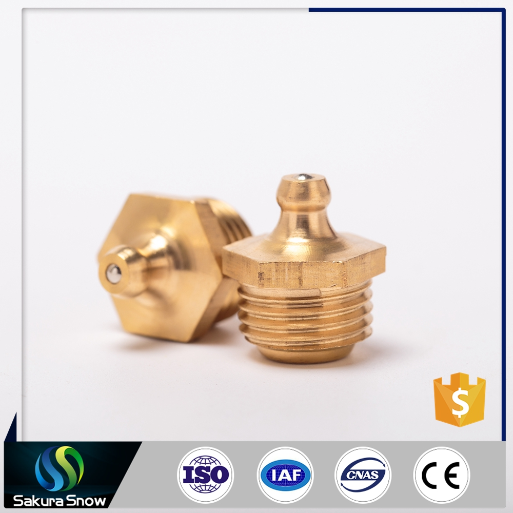 2016 Cheaper hot sale promotion plating copper zerk grease fitting