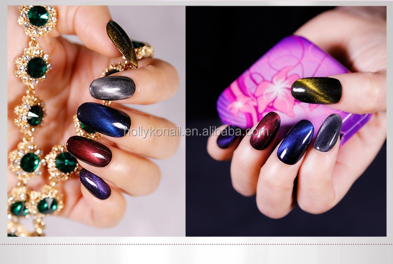 Fascinating Cats Eye Coat UV Gel Nail Polish for Nail Art Design