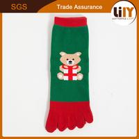 Women Five Finger Christmas Gift Ankle Toe Socks