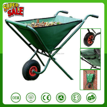 Portable canvas oxford tray folding wheelbarrow garden trolley tool cart 600D PVC backed polyester bag garden cart wagon barrow