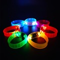 Party Supplies PVC Button Switch Led Flashing Bracelet